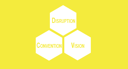 Convetion, vision, disruption