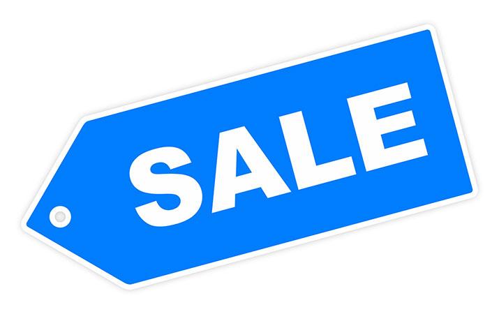 Blue Sale Label